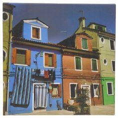 Schilderij canvas Venetie blauw huis 25x25 cm | goedkoop kopen € 2,50 | Schilderijen | Wonen | Online Winkel | Discount Postorder Warenhuis Budgetland