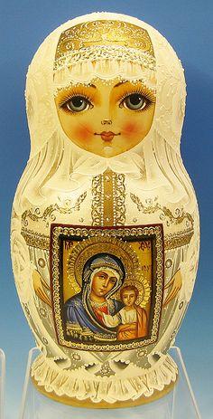 Icon Matryoshka Doll by Tatiana Rolina - Russian American Company