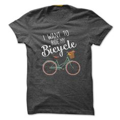 I Want to Ride My Bicycle guy shirt
