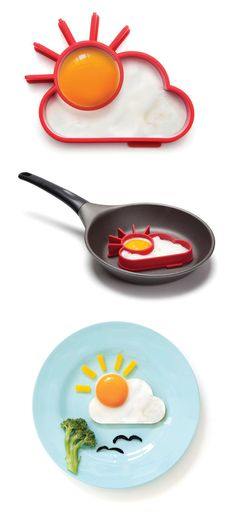 Sunnyside Egg Mold Set of Two by Monkey Business // this is pure GOLD! Want! #productdesign