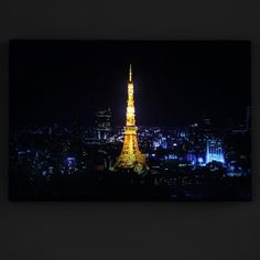 Feel the power of Night Light. We always love the night view of urban  city. Traditional art print can only give you a briefly look.Thanks  to our new technology of high quality printed canvas which is a white  semi-gloss artists. The back light can be 100% through the canvas and  bring it to your eyes. HP Latex inks during printing process allowing  our products to be fade resistant for up to 100 years.Product Details:Remote Control16