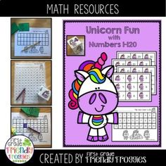 Engage your students with this Unicorn themed math activity! This resource offers several activities to add to your math centers and games. Each activity can be differentiated for your learners.Students use the Unicorn themed cards to identify, trace and/ Fun Math Activities, Hands On Activities, Math Resources, Kindergarten Lesson Plans, Kindergarten Activities, Kindergarten Teachers, School Lessons, Math Lessons, Elementary Education