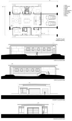 Cool shipping container home floor plan.