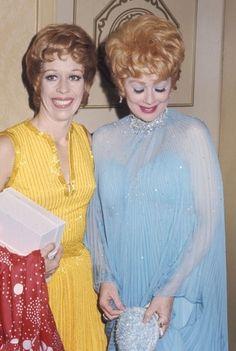 Carol Burnett and Lucille Ball