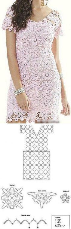 Платье из круглых мотивов...♥ Deniz ♥
