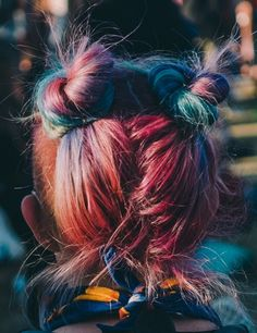 Bright rainbow hair is a trend we're still feeling - click to see more cool festival hairstyles from Coachella.