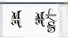 Learn to make the beautiful Split Letter Monogram fonts for FREE. Letter Monogram, Monogram Fonts, Monogram Wine Glasses, Font Free, Free Youtube, Lettering, Create, Drawing Letters, Brush Lettering