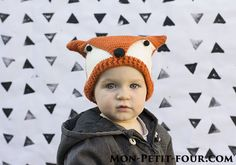 Fox hat {crochet pattern by Mon Petit Four}