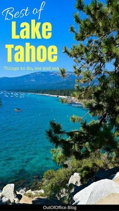 Lake Tahoe, Nevada is a stunning resort city with a cobalt blue lake nestled in the Sierra Nevada Mountains known for its outdoor lifestyle and activities. Read more for the best things to do, see and eat in Lake Tahoe California Lakes In California, California Travel, Tahoe California, Southern California, Travel Oklahoma, Lake Tahoe Summer, South Lake Tahoe, Usa Travel Guide, Travel Usa