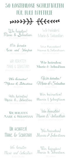 14 of our favorite free wedding invitation fonts for sweet DIY