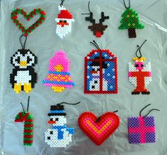Christmas ornaments perler fuse beads