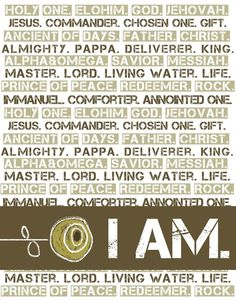 The names of God. 11 by 14 print. Neutral colors.