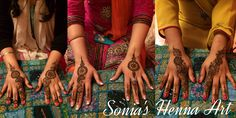 Party Mehndi simple design by Sonia's Henna Art