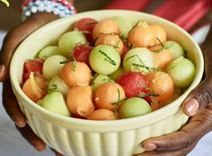 Lemon Melon Salad with Mint from Publix Aprons #Contest