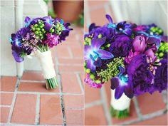 Purple and blue bouquet. Kreative Angle Photography