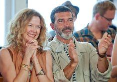 """""""Ruby Sparks"""" movie still, 2012.  L to R: Annette Bening, Antonio Banderas."""