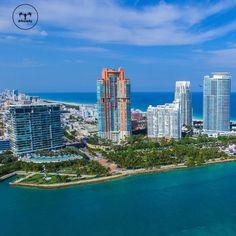 """Good morning South Pointe Park, Miami Beach, City of Miami, United States of America!  ______________________________________    #drfromsky…"""