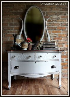 {createinspire}: Antique Lowboy in Seagull Gray