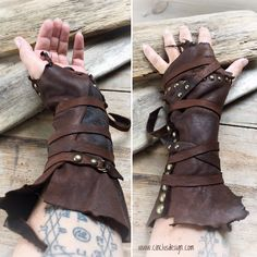 Leather cuff Perfect handmade costume for Burning Man - Viking - Festivals - Mad Max - Postapocalyptic - Steampunk - Rave