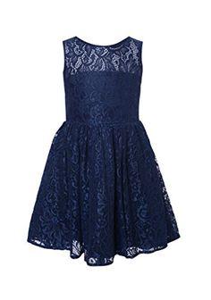 Thstylee Lace Flower Girl Dresses Sleeveless Junior Bridesmaid DressesSize US 5T Navy Blue thstylee http://www.amazon.com/dp/B00Y8BK3HC/ref=cm_sw_r_pi_dp_JiHswb195WVW8