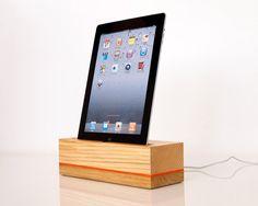 iPad 4 wooden dock iPad Air 2 dock modern design by valliswood