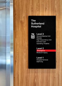 Sutherland Hospital's pared back, meticulously planned wayfinding system has been designed with a single-minded focus on visibility, legibility and enhancing the user experience. #wayfinding #signage #buildingsignage #hospitals #hospitalsignage #wayfindingdesign #sydney #designstudio #brandculture #bvn #bvnarchitecture
