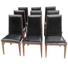 1stdibs.com | Set of 9 Mid Century Modern Dining Chairs