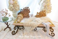 Art Nouveau Doll Lounge set for Mermaids and by ShariDeppDesigns, $149.00
