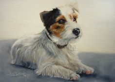 Jack Russell Terrier Oil Painting, painting by artist Anne Zoutsos