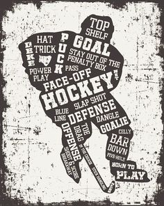 Hockey ArtHockey DecorHockey GiftsHockey Wall by SportsHomeDecor