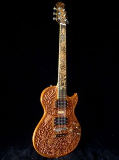 "Custom Made Blueberry ""Hawk & Dragon"" Electric Guitar"
