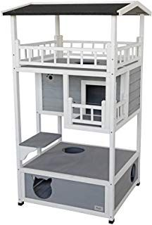 Petsfit Outdoor/Indoor Cat Shelter for Feral Cat, Wooden Cat House with Eave, Cat Condo with Escape Door Tap the link Now - Luxury Cat Gear - Up to off and Free Worldwide Shipping! Check out our Cat & Kids Clothing - Stand Out in a Crowded World! Feral Cat House, Feral Cats, Cat Tree House, Tree Houses, Outdoor Cat Tree, Heated Cat House, Outside Cat House, Wooden Cat House, Outdoor Shelters