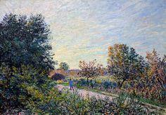Alfred Sisley - Die Strasse, 1885