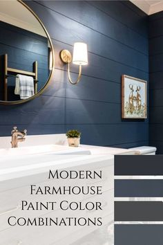 Modern Farmhouse Paint Color Combinations - ideas and inspiration for color schemes