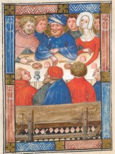 Job's children Detail from Biblia Pauperum  (c. 1405, Kings MS 5)