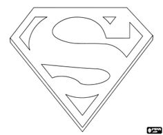 Print Supergirl Logo Coloring Pages