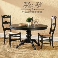 Bless All Who Gather Here Wall decal from www.beautifulwalldecals.com  #wall decal #bless #decal
