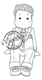 Magnolia Stamp - Wedding Collection - Sitting Groom Edwin