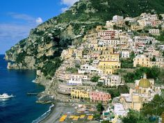 Amalfi coast . An amazing place to visit once you arrive. The winding roads were a whole different story.