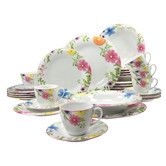 Creatible soft 30 Piece Sanira Combo Service Dinnerware Set £80. very sweet with great detail on the fern like leaves.