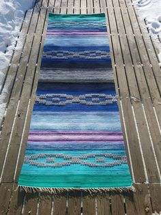 Recycled Fabric, Couture, Scandinavian Style, Woven Rug, Pattern Design, Projects To Try, Outdoor Blanket, Weaving, Textiles