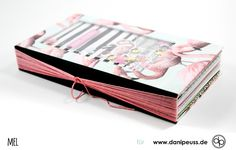 Buchbinden ganz einfach: Minialbum mit Shaker Cover mit den Junikits 2018 von www.danipeuss.de Scrapbooking Kartenbasteln Memorykeeping Klartextstempel Stempeln