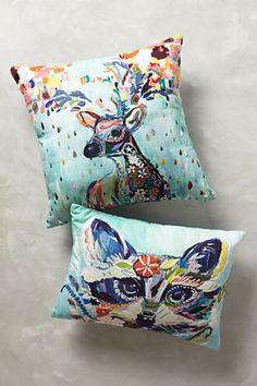 Mooreland Pillow from Anthropologie, adorable home decor idea!