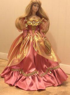 "Cinderella Franklin Heirloom Mint 19"" Porcelain Fairy Tale Princess Doll | eBay"
