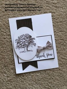 Handmade Cards; Lovely as a Tree; Rose Wonder; Thank You cards; Masculine Cards; Stampin; Up!; Tamara's Paper Trail