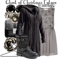 """""""Ghost of Christmas Future"""" by lalakay on Polyvore"""
