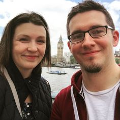 Touristing in London with my beautiful wife.