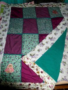 """Quilts & Patchwork - Kuscheldecke """"Cottage in the woods"""" - ein Designerstück…"""