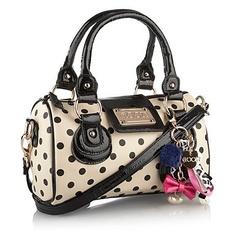 Cream spotted bag - Hand held bags - Handbags & purses - Women -