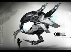 spaceship - speedpainting